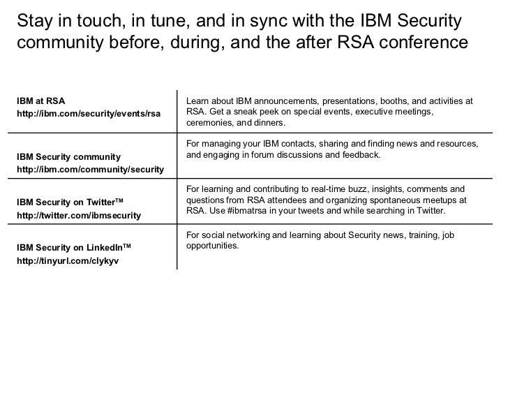 IBM at RSA 2009 conference