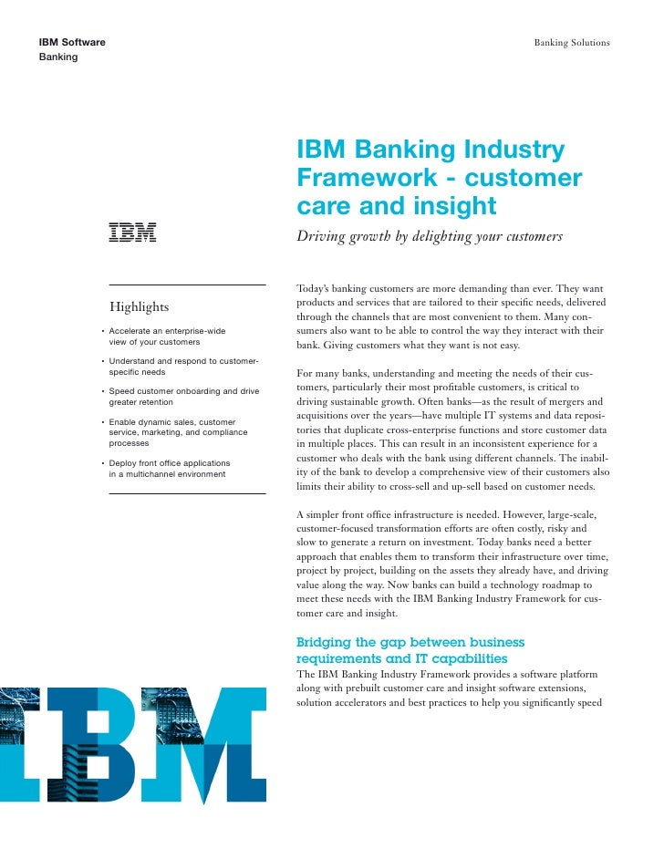 Customer Software: Providing a Platform for Banking Customer Care and Insight Solutions