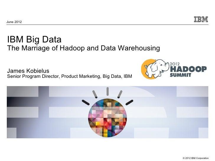 Ibm big dataibm marriage of hadoop and data warehousing