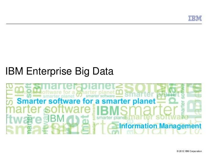 IBM Big Data Platform, 2012
