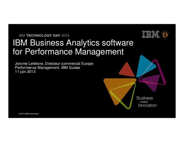 IBM Business Analytics Software_Keynote Jerome Lefebvre