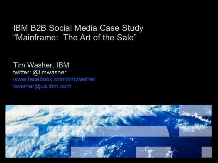 The Business Case for Nonsense: IBM Social Media