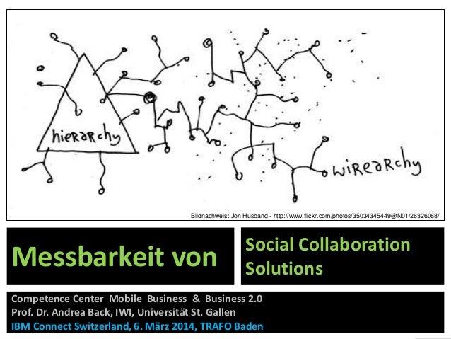 Bildnachweis: Jon Husband - http://www.flickr.com/photos/35034345449@N01/26326068/  Messbarkeit von  Social Collaboration ...