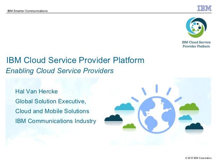 IBM Cloud Service Provider Platform