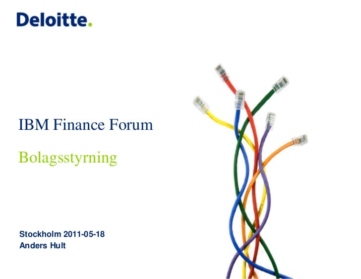IBM Finance Forum - Bolagsstyrning