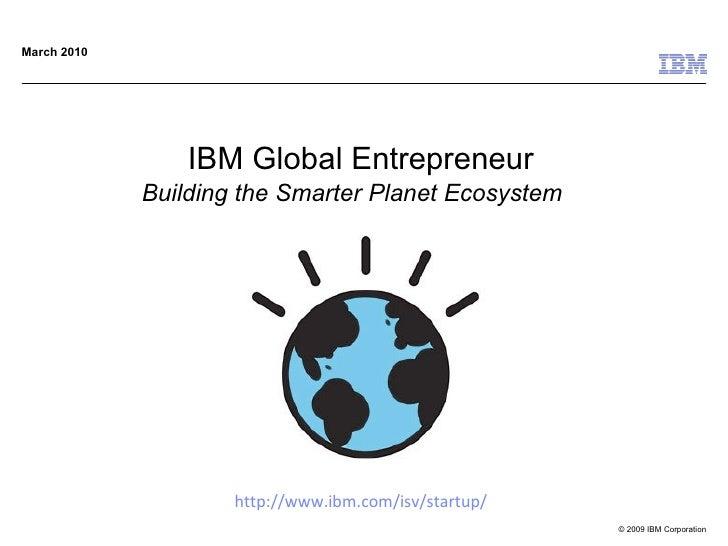 Ibm global enterpreneur briefing