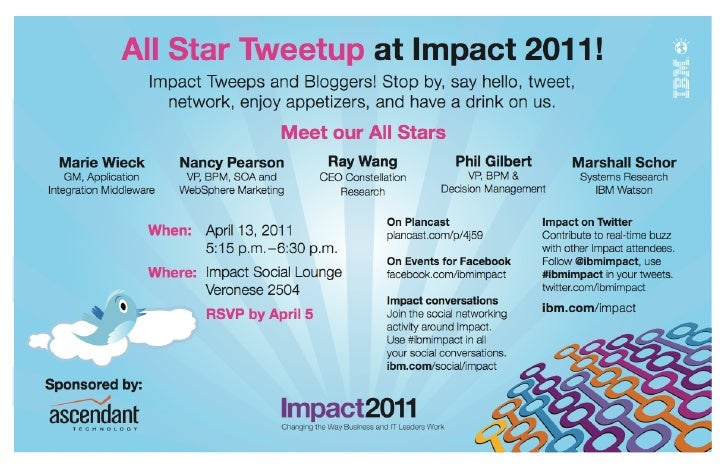 #IBMImpact all star tweetup invitation