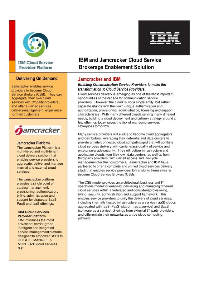 Ibm jamcracker csp2_solution_brief_1