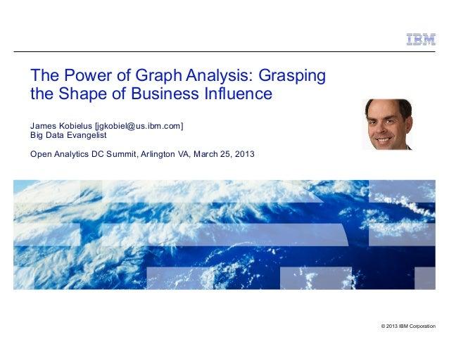 The Power of Graph Analysis: Graspingthe Shape of Business InfluenceJames Kobielus [jgkobiel@us.ibm.com]Big Data Evangelis...