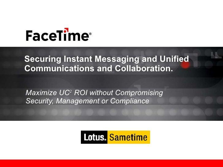 IBM Sametime and Facetime