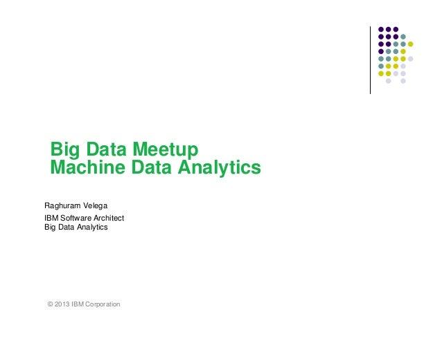 Machine Data Analytics