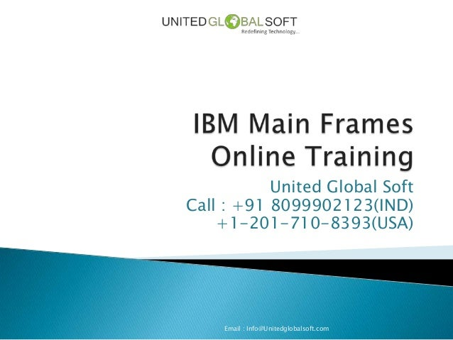 Ibm main frames online training in India