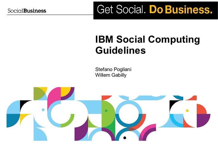 IBM Social Computing Guidelines