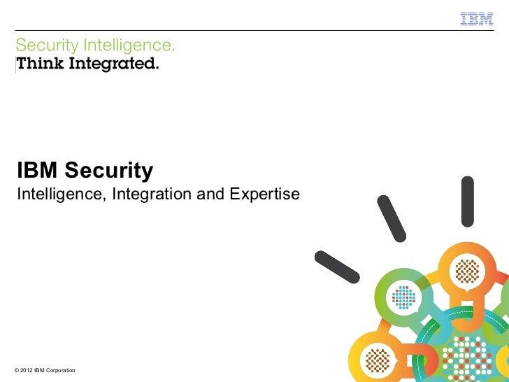 IBM Security SystemsIBM SecurityIntelligence, Integration and Expertise© 2012 IBM Corporation1                            ...