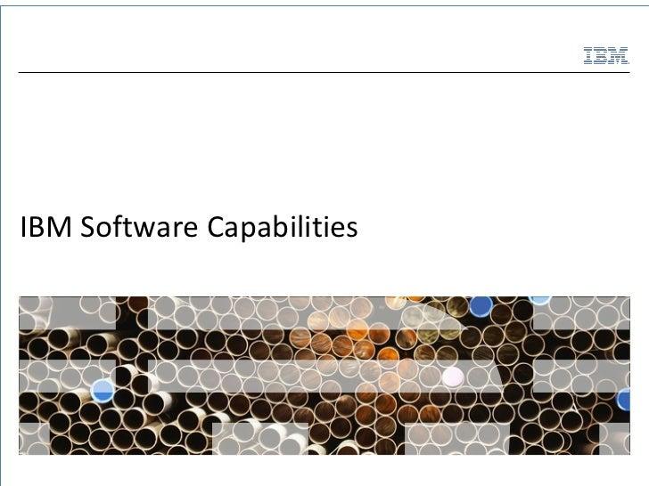 IBM Software Capabilities