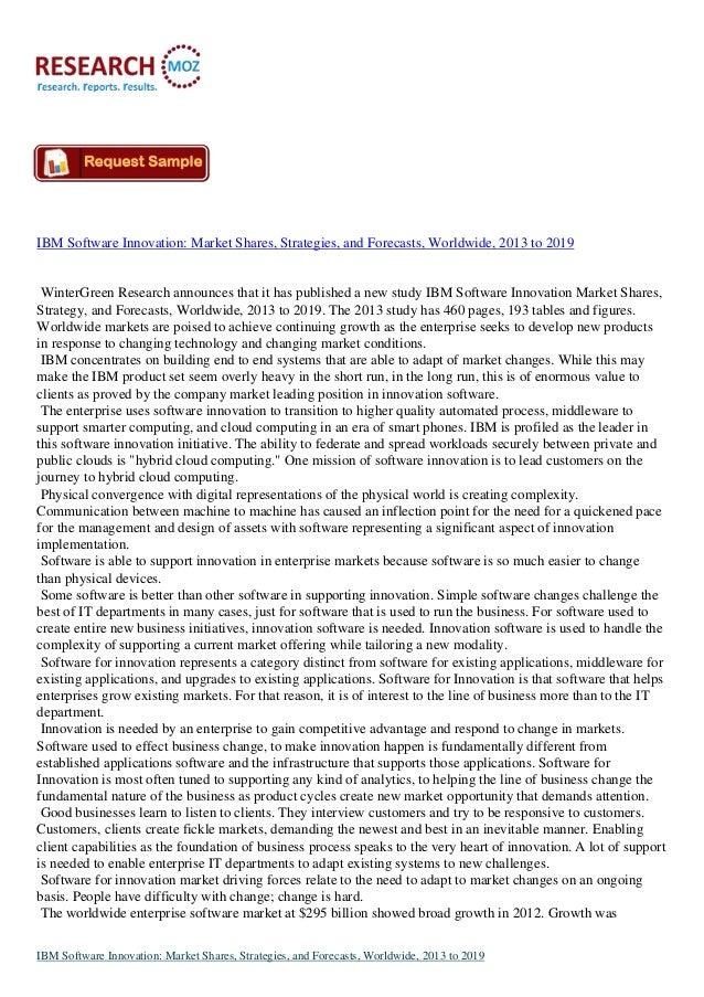Latest Analysis Report: Global IBM Software Innovation Market