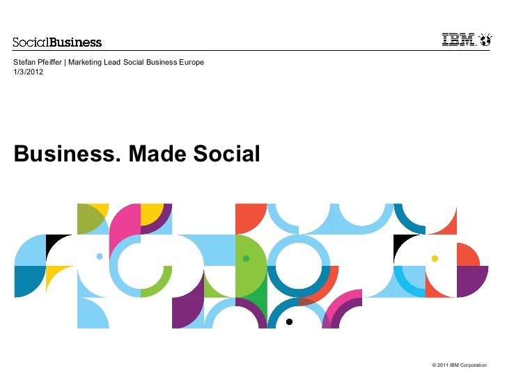 Stefan Pfeiffer | Marketing Lead Social Business Europe1/3/2012Business. Made Social                                      ...