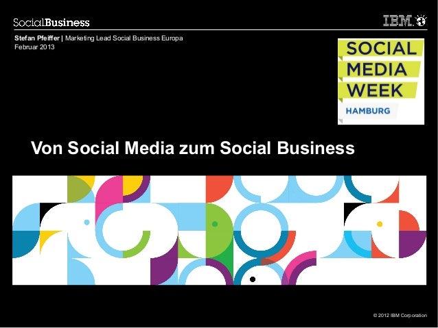 Stefan Pfeiffer | Marketing Lead Social Business EuropaFebruar 2013     Von Social Media zum Social Business              ...
