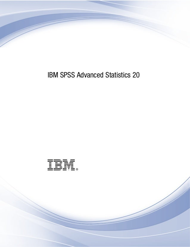 Ibm spss advanced_statistics
