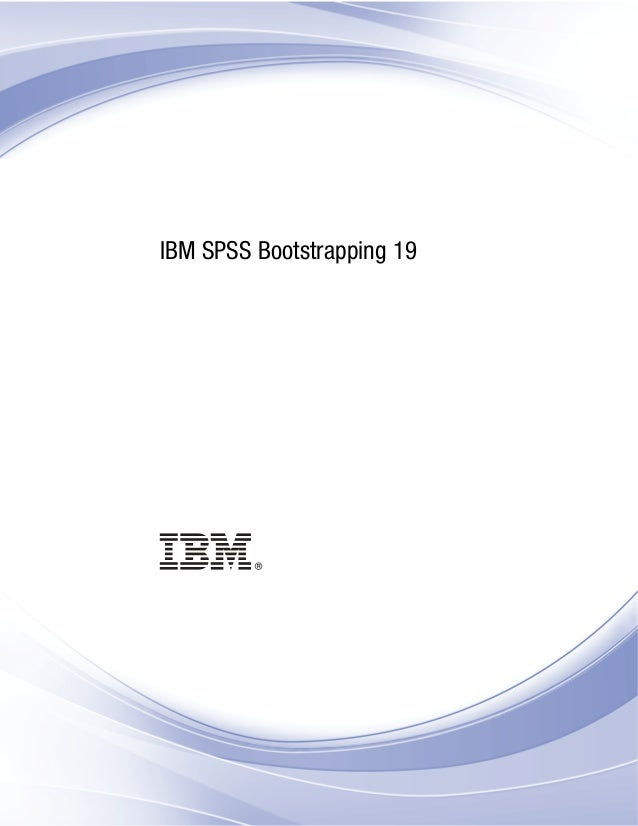 i IBM SPSS Bootstrapping 19