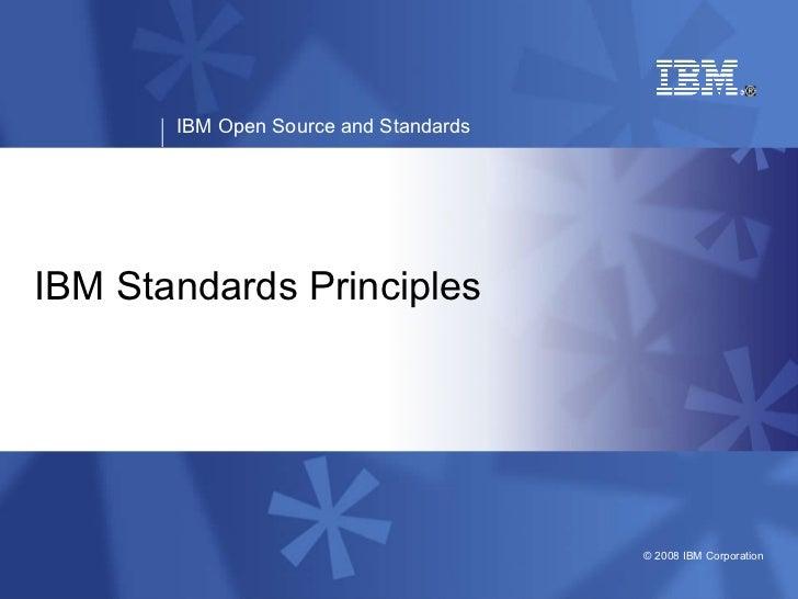 IBM Standards Principles