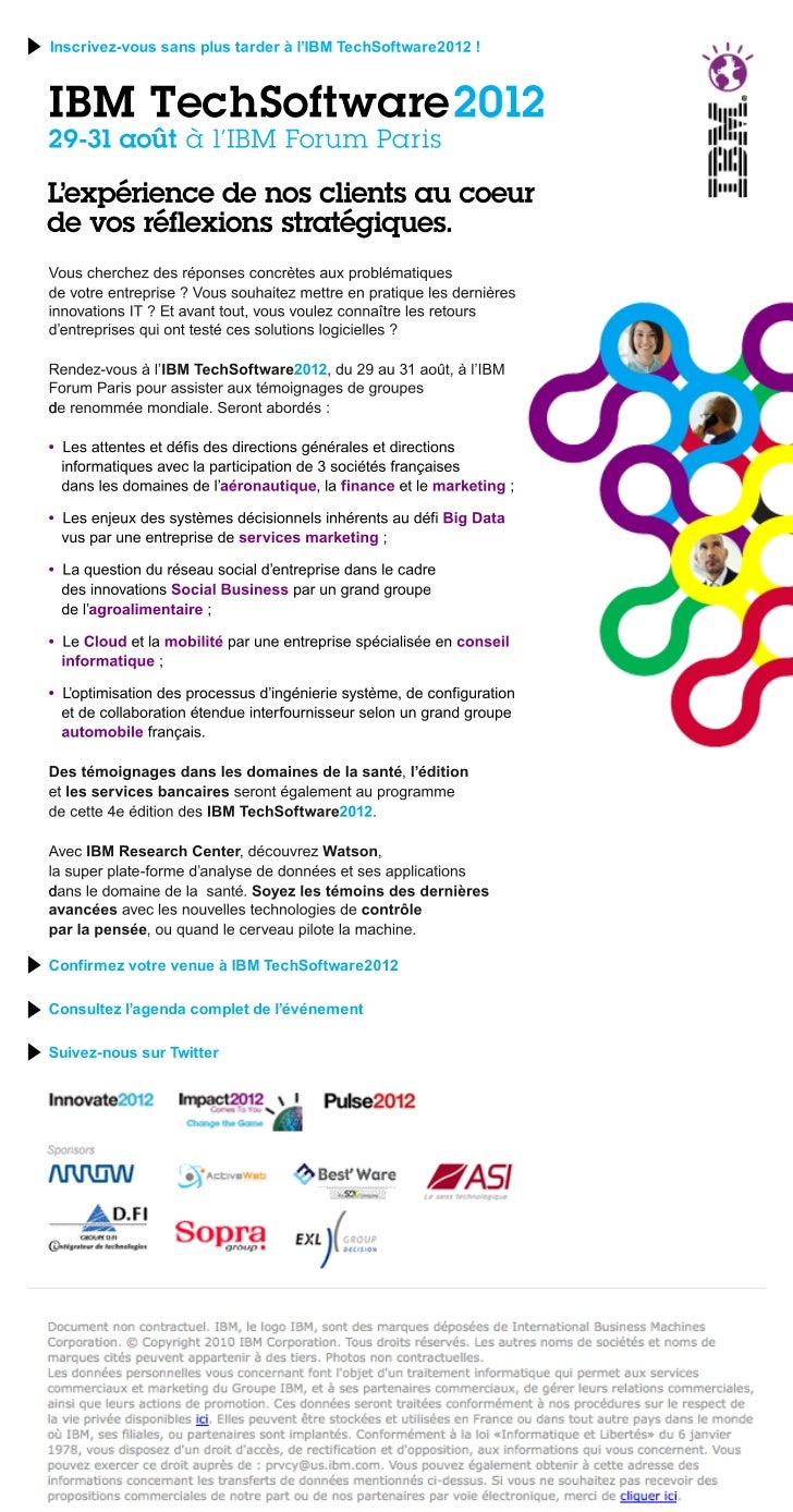 Invitation IBM TechSoftware 2012