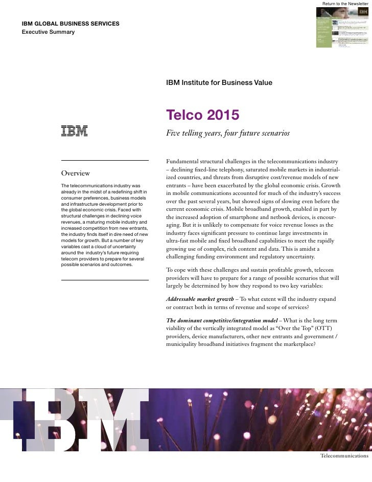 IBM Telco 2015 Exec Briefing