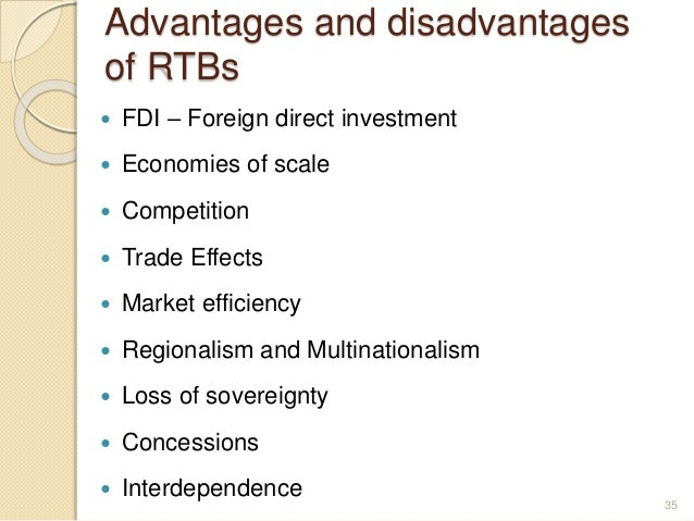 advantages and disadvantages of economic integration Advantages & disadvantages of single currencies / monetary integration   transition costs - moving into a single currency economic union involves short  term.