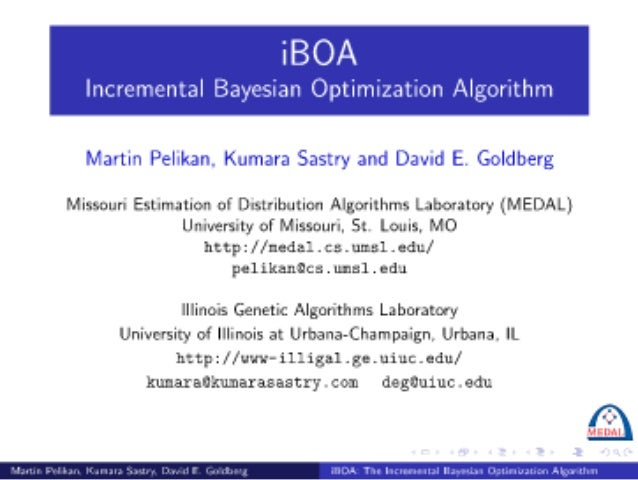 iBOA: The Incremental Bayesian Optimization Algorithm