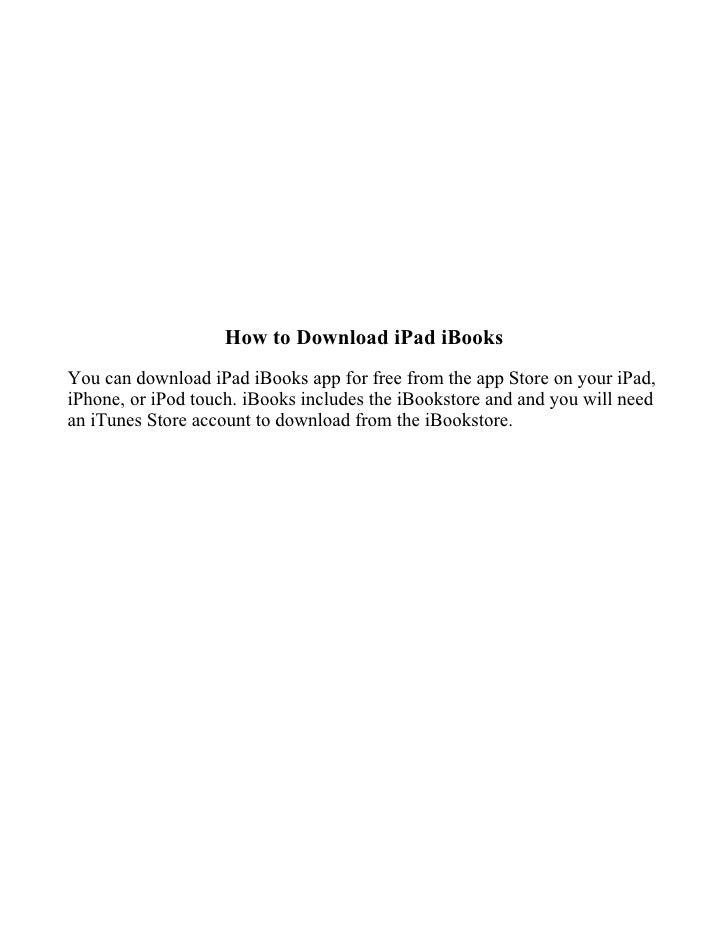 Download iPad iBooks