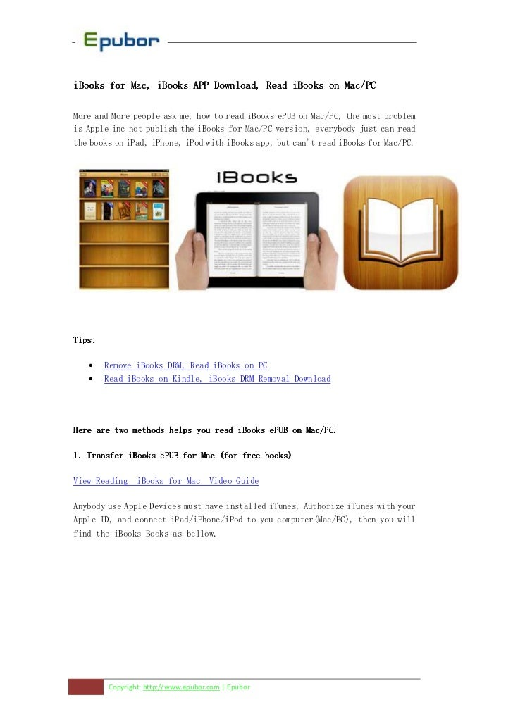 iBooks for Mac, iBooks APP Download, Read iBooks on Mac/PCMore and More people ask me, how to read iBooks ePUB on Mac/PC, ...