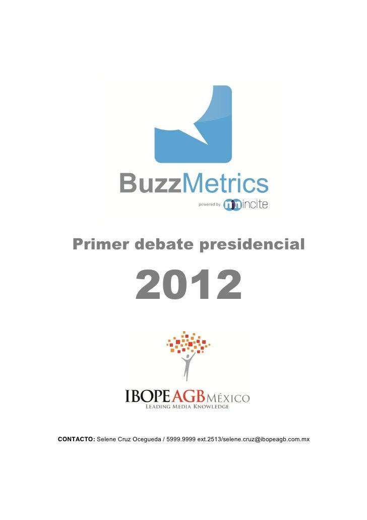 IBOPE: Análisis debates presidenciales 2012