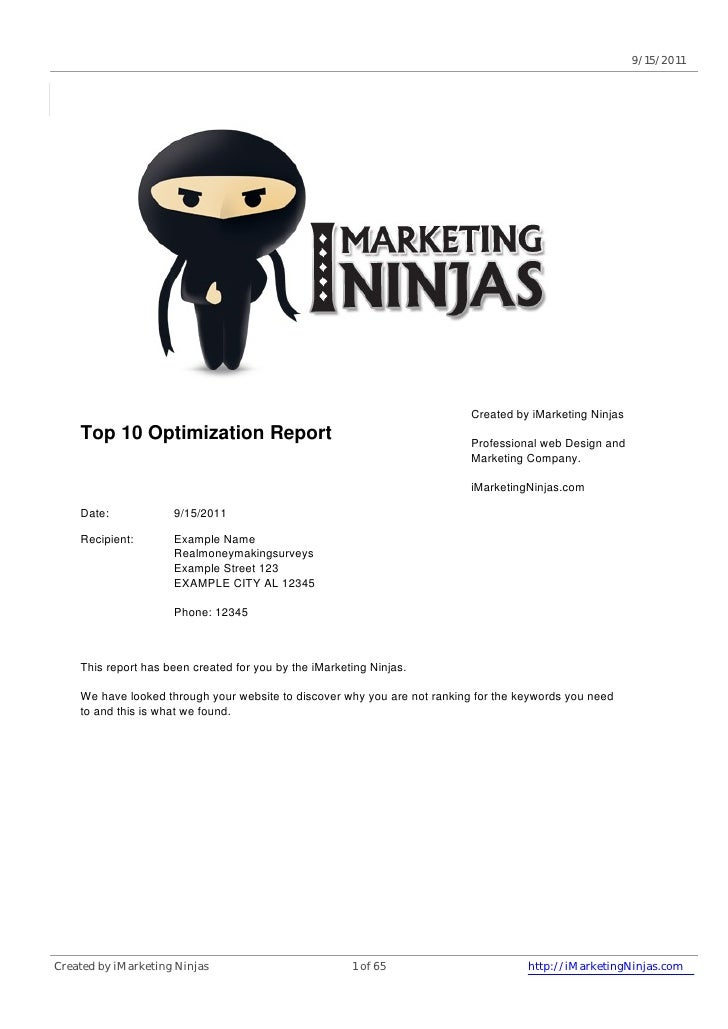 9/15/2011                                                                           Created by iMarketing Ninjas    Top 10...