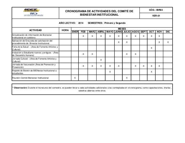 Ibr02 cronograma de actividades año 2014