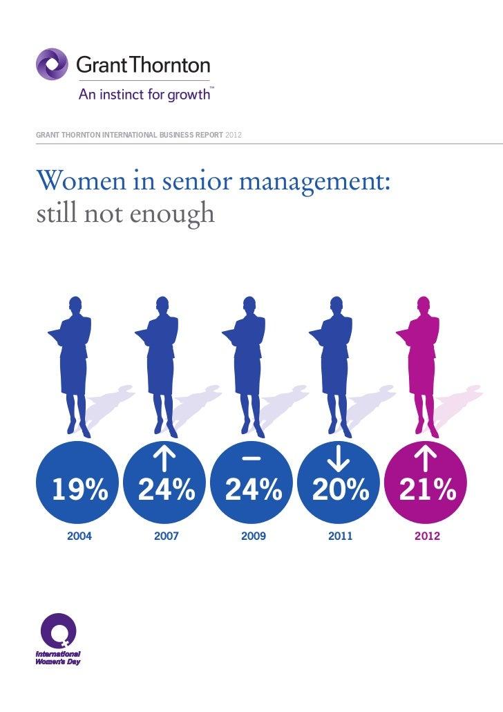 IBR 2012 - Women in senior management – still not enough