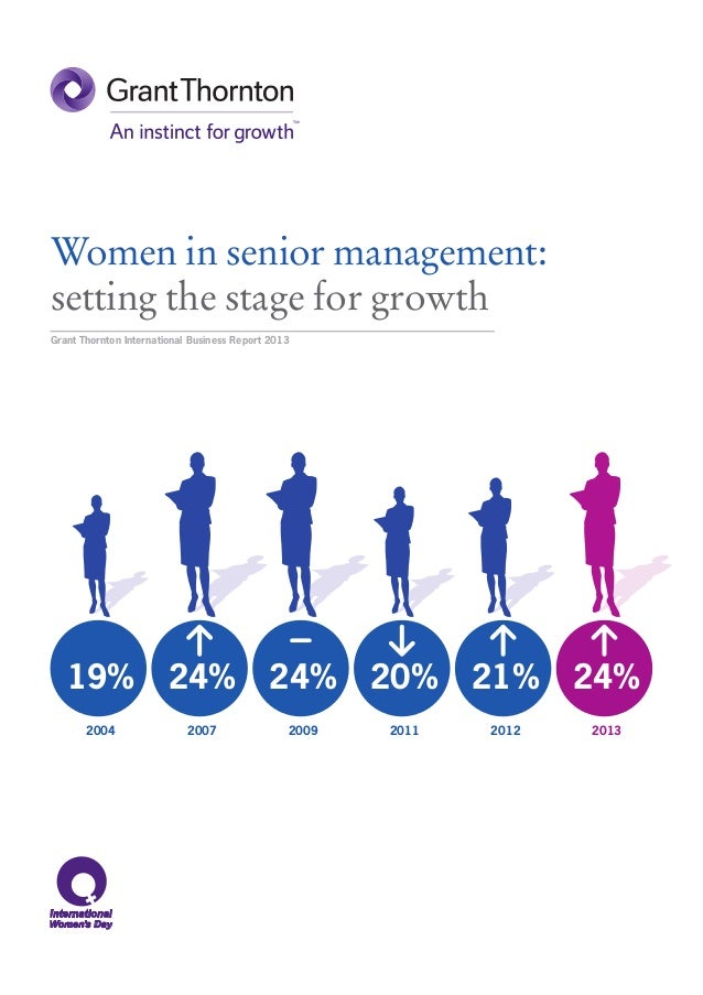 Women in senior management:setting the stage for growthGrant Thornton International Business Report 2013   19%            ...