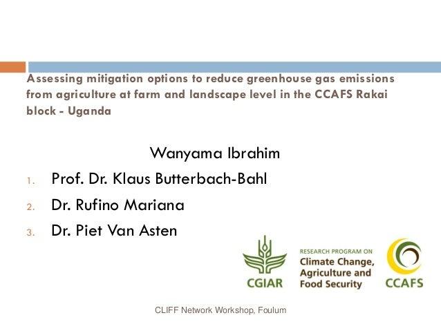 Ibrahim Wanyama CLIFF Workshop