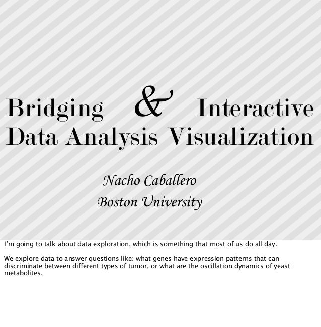 Bridging data analysis and interactive visualization