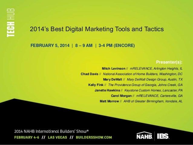 Best Digital Marketing Tools & Tactics 2014