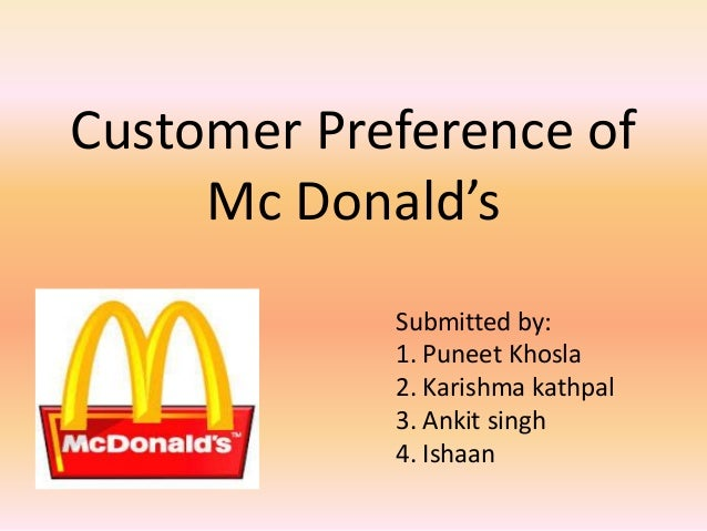 research on mcdonalds