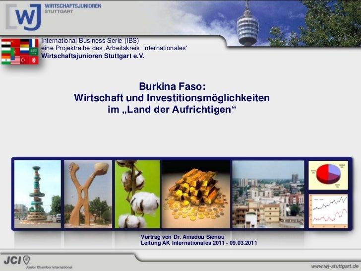 Burkina Faso: Wirtschaft und Investitionsmöglichkeiten