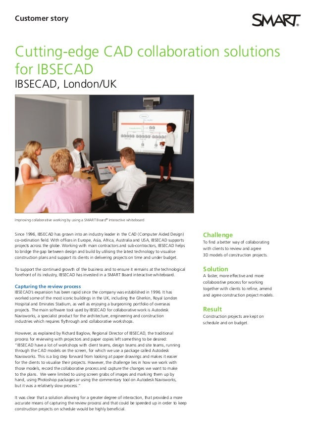 Customer storyCutting-edge CAD collaboration solutionsfor IBSECADIBSECAD, London/UKImproving collaborative working by usin...