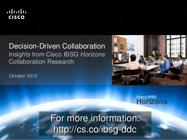 Cisco IBSG                                                                                                                ...