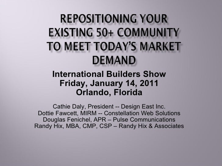 Repositioning Your 55+ Community For Today's Market