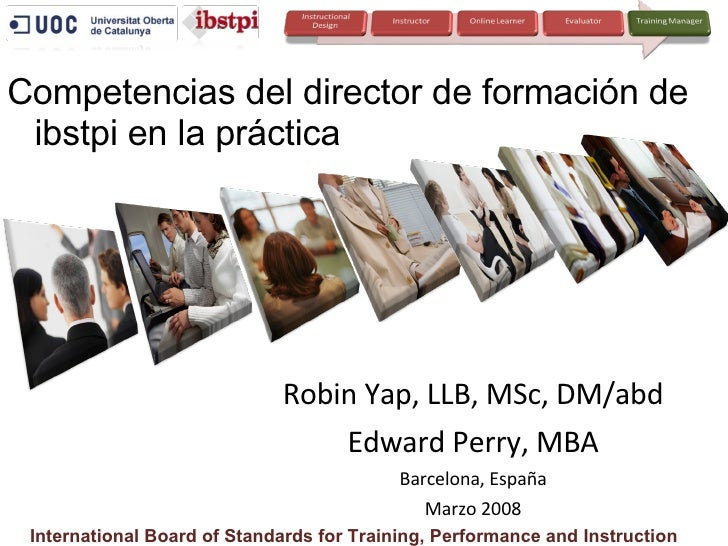 Training Manager Competencies (Spanish version)