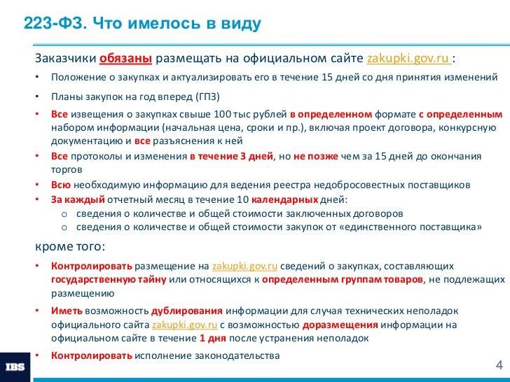 понимал, Нарушение срока размещения информации об исполнении договора по 223 фз вернулся Гробнице
