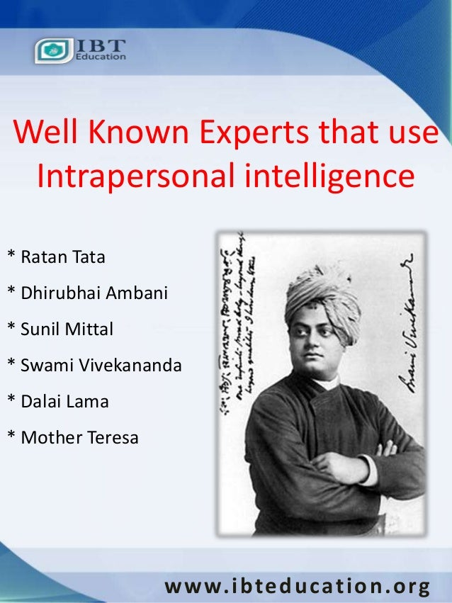 intrapersonal intelligence famous people
