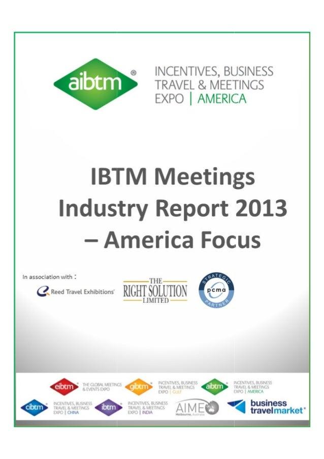 IBTM meetings industry research america focus report