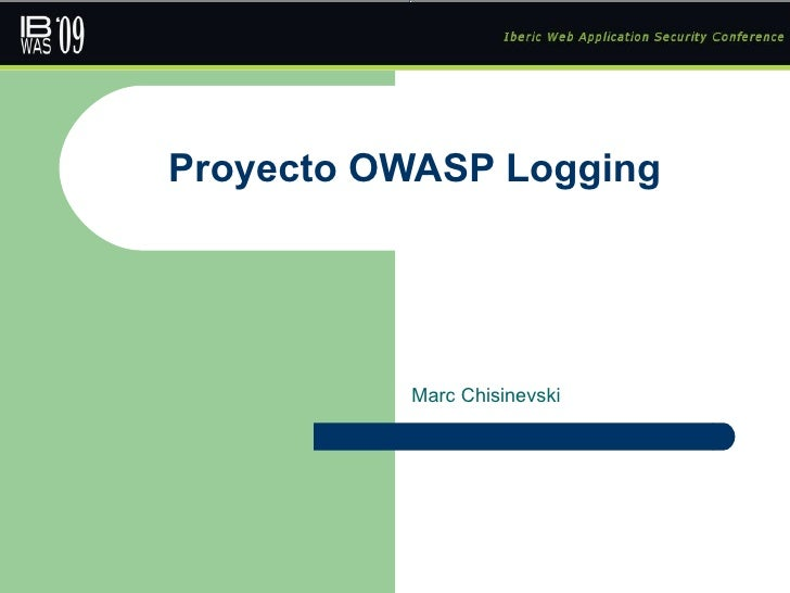 Proyecto OWASP Logging Marc Chisinevski