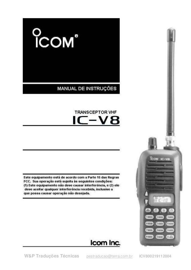 W&P Traduções Técnicas   pestraducao@terra.com.br   ICV800219112004